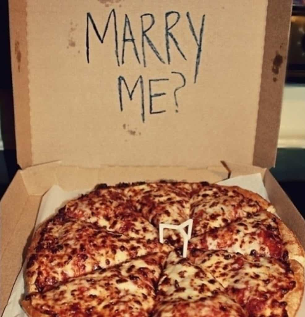 Marriage Proposal Pizza